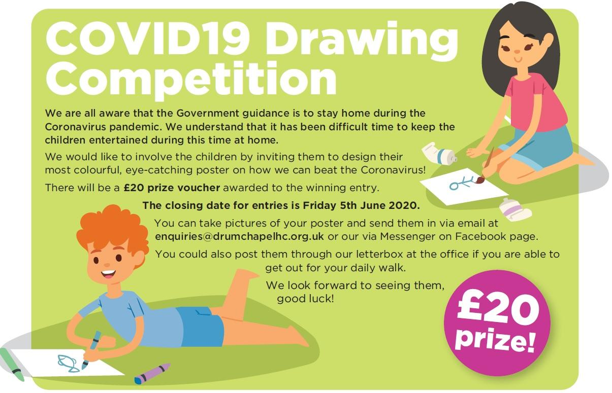 COVID19 Childrens Drawing Competition Poster