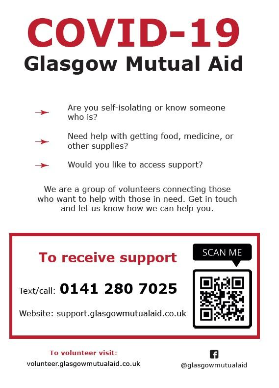 Glasgow Mutual Aid poster