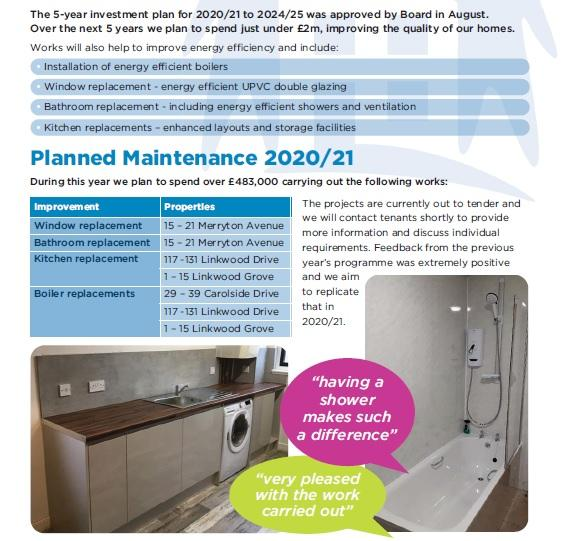 Planned Maintenance 2020-21